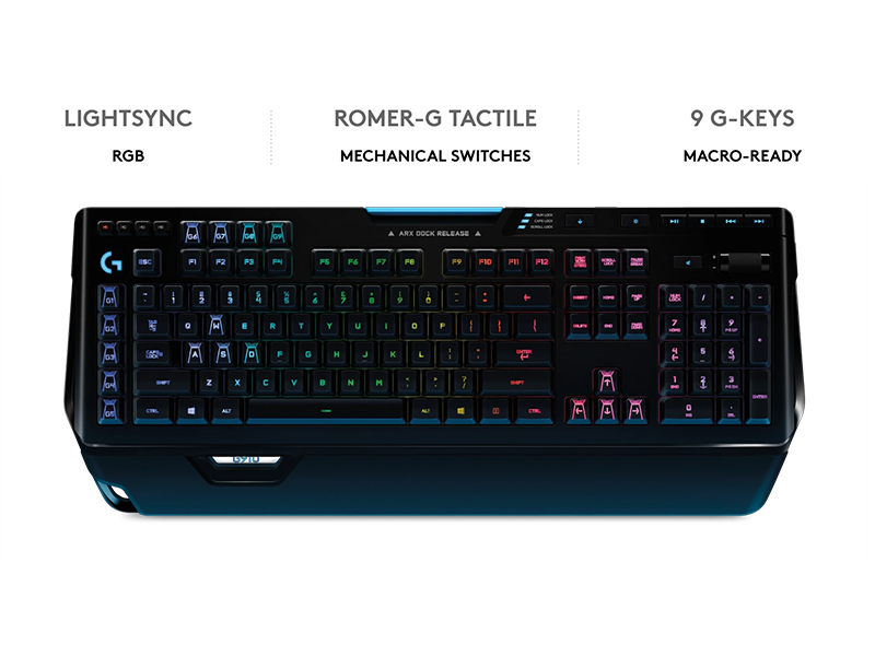 Logitech G910 Orion Spectrum RGB Wired Mechanical Gaming Keyboard